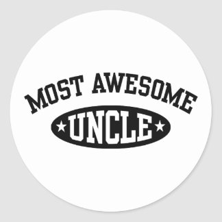 Most Awesome Uncle Round Sticker