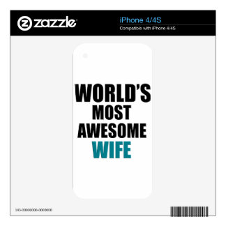 Most awesome wife iPhone 4 skin