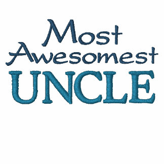 Most Awesomest Uncle Embroidered Hooded Sweatshirt