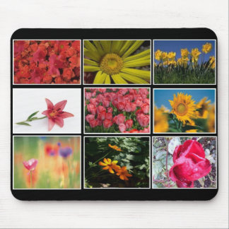 Most Beautiful Flowers Collage Mousepad