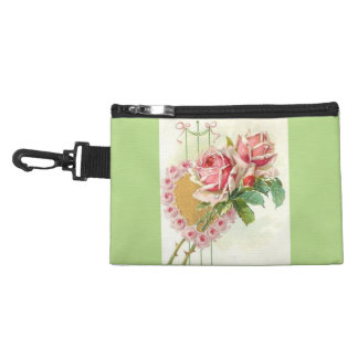 Most Beautiful Vintage Pink Roses and Heart Accessories Bags