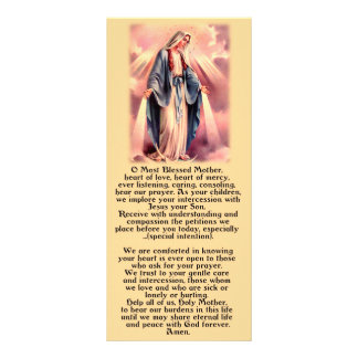 Most Blessed Mother Mary Custom Rack Card