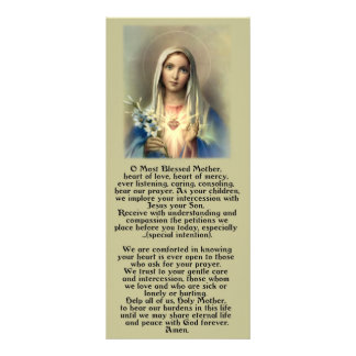 Most Blessed Mother Mary Rack Card Design