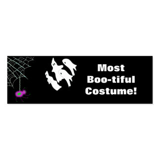 Most Boo-tiful Costume! award Double-Sided Mini Business Cards (Pack Of 20)