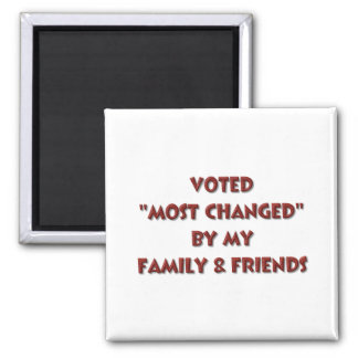 """""""Most Changed"""" 2 Inch Square Magnet"""