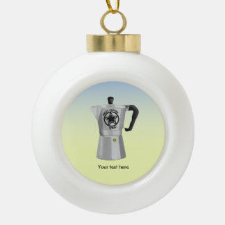 Most coffee wins desin for caffeine addicts ceramic ball christmas ornament