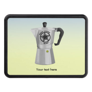 Most coffee wins desin for caffeine addicts trailer hitch cover