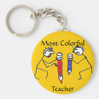 Most Colorful Teacher Keychains