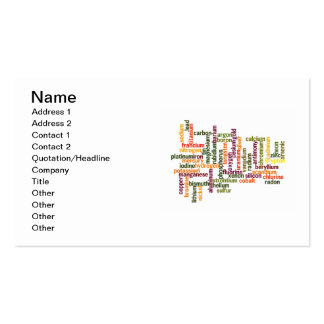 Most Common Elements (Word Cloud Chemistry) Business Card