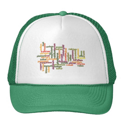 Most Common Elements (Word Cloud Chemistry) Trucker Hats