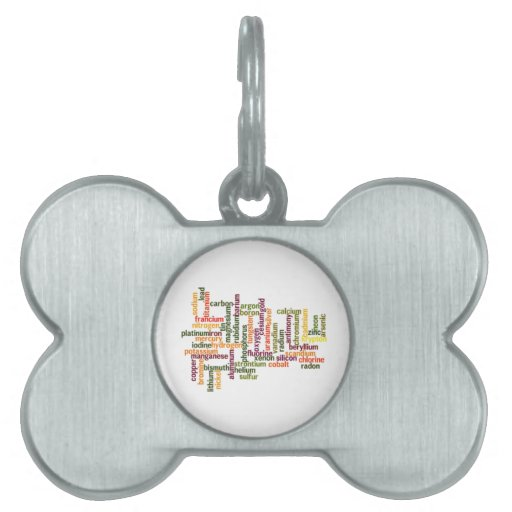 Most Common Elements (Word Cloud Chemistry) Pet Name Tags