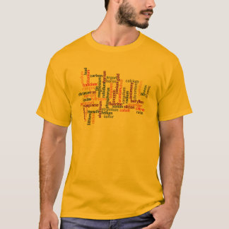 Most Common Elements (Word Cloud Chemistry) T-Shirt