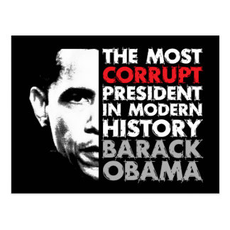Most Corrupt President Post Card