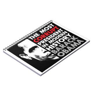 Most Corrupt President Spiral Notebook
