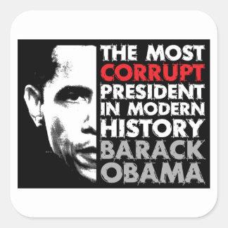 Most Corrupt President Square Sticker