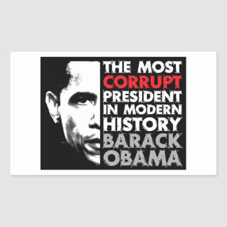 Most Corrupt President Rectangular Stickers
