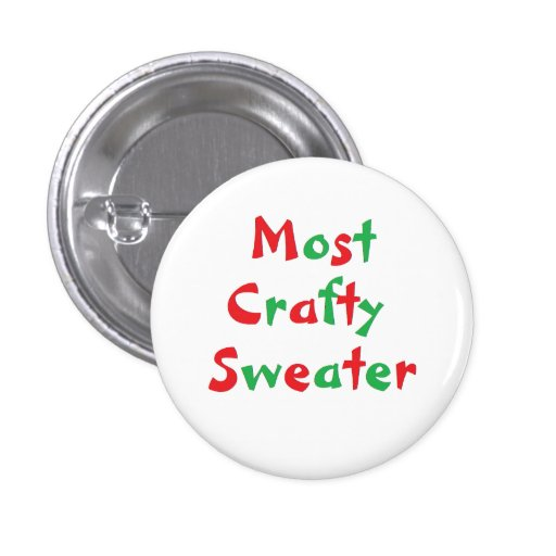 """""""Most Crafty Sweater"""" Award Button"""