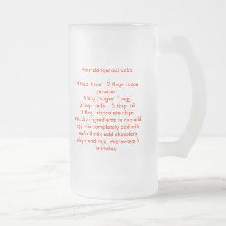 most dangerous cake4 tbsp. flour   2 tbsp. coco... frosted glass beer mug