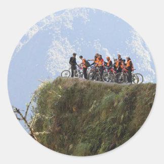 Most Dangerous Road  Bolivia Death Road to Coroico Classic Round Sticker