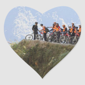 Most Dangerous Road  Bolivia Death Road to Coroico Heart Sticker