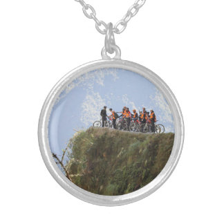 Most Dangerous Road  Bolivia Death Road to Coroico Silver Plated Necklace