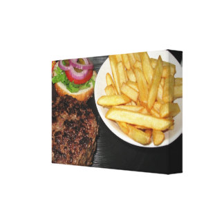 Most delicious burger canvas print