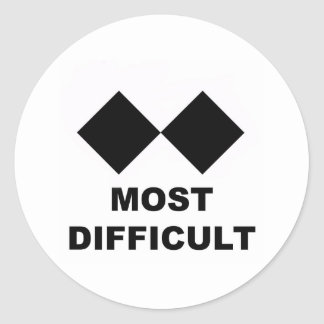 Most Difficult Classic Round Sticker