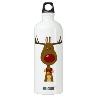 Most Famous Reindeer Aluminum Water Bottle