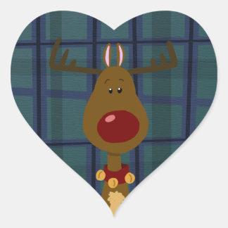 Most Famous Reindeer Heart Sticker
