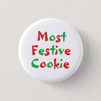 """Most Festive Cookie"" Award Pin"