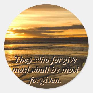 most forgiven sticker