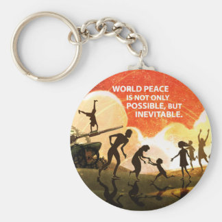 Most Great Peace Basic Round Button Keychain