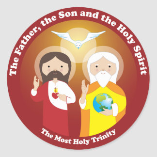 Most Holy Trinity Classic Round Sticker