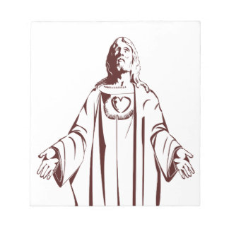 Most immaculate sacred holy heart of Jesus christ Memo Note Pad