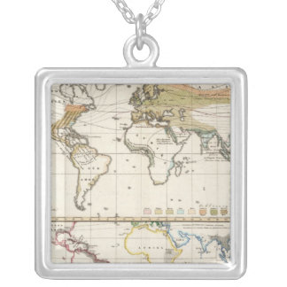 most important cultivated plants spread Districts Square Pendant Necklace