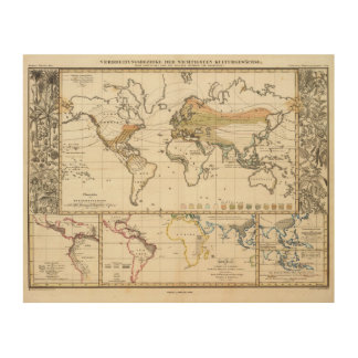 most important cultivated plants spread Districts Wood Print