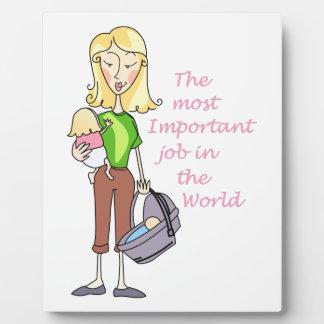 MOST IMPORTANT JOB DISPLAY PLAQUE