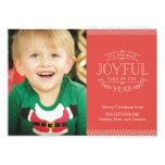 Most Joyful Holiday Photo Card Custom Invite