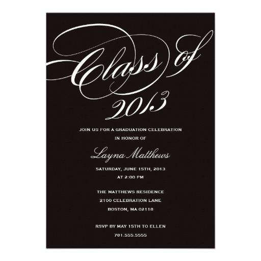 Personalized high school formal invitations custominvitations4u most likely to succeed graduation invitation stopboris Gallery