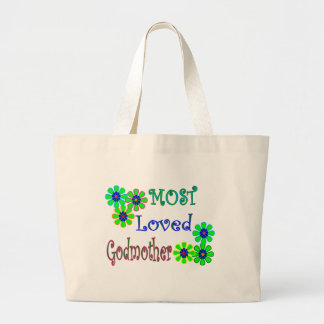 """""""Most Loved Godmother"""" Gifts Canvas Bags"""