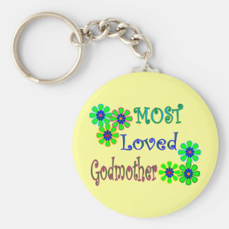"""Most Loved Godmother"" Gifts Keychain"