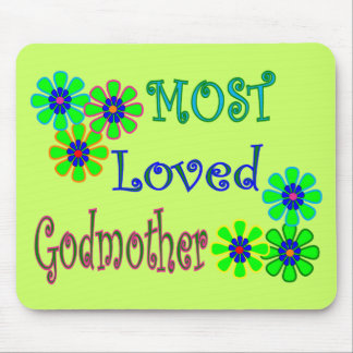 """Most Loved Godmother"" Gifts Mouse Pad"
