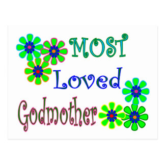 """""""Most Loved Godmother"""" Gifts Postcard"""