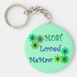 """""""Most Loved MeMaw""""  Mother's Day Gifts Keychain"""