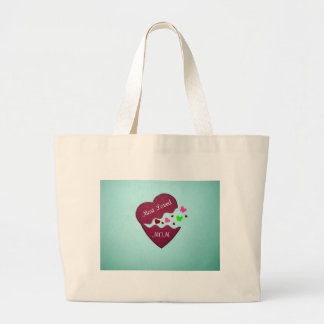 Most loved Mom! Large Tote Bag