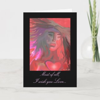 Most of all, I wish you Love... zazzle_card