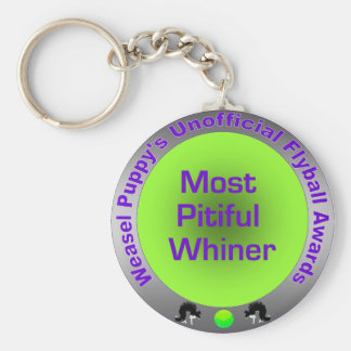 Most Pitiful Whiner Flyball Award Keychain