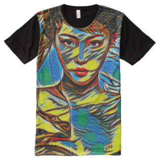 Most Popular Beautiful Girl Acrylic Abstract Art All-Over-Print Shirt
