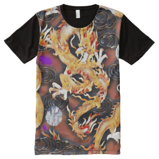Most Popular Chinese Dragon Acrylic Paint All-Over-Print Shirt