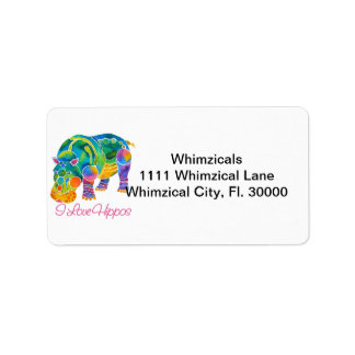 Most Popular I Love HIPPOS Label
